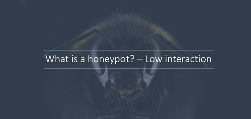 What is a honeypot? Low Interaction