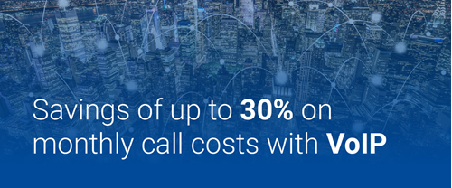 Save up to 30 percent with VOIP